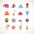 Collection of India vector icons — Stock Vector #12764841