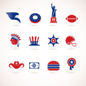 Usa - zbiór ikon wektor — Wektor stockowy