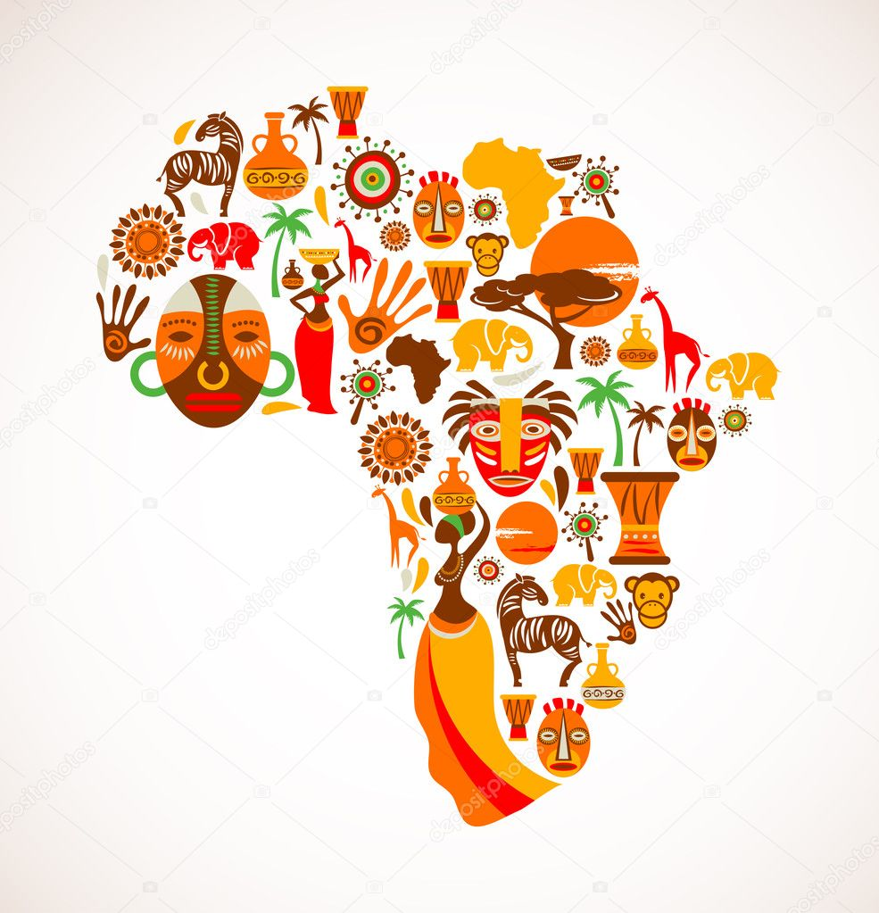 Africa icons, vector illustration — Stock Vector #12766529