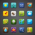 apps simgeler koleksiyonu — Stok Vektör