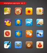 Collection of apps icons — Stock Vector