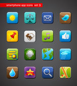 Collection of apps icons — 图库矢量图片
