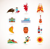 Spain Love - set of vector icons — Stock Vector