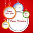 Christmas background with balls decorations — Image vectorielle