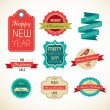 Christmas vintage labels, elements and illustrations — Stock Vector #13792168