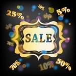Elegant golden Christmas background - Sale — Stock Vector