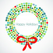 Royalty-Free Stock Vector Image: Abstract Christmas wreath