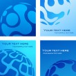 Business card templates with blue globe — Stock Vector #1834548