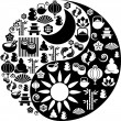 Yin Yang symbol made from Zen icons — Stock Vector #1904829