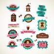 Royalty-Free Stock Imagen vectorial: Espresso bar vinatge poster with makineta