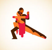 Tango dancer - vector illustration — Stock Vector