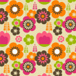 Seamless flower pattern background — Stok Vektör #20087445