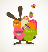 Easter vintage style greeting card — Vecteur