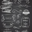 Chalkboard Hand drawn vintage vector elements — Stockvectorbeeld