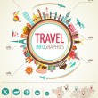 Travel and tourism infographics with data icons, elements — Stock Vector