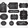 Chalkboard hand written vintage invitation - Stock Vector