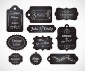Invitation vintage de manuscrite chalkboard — Vecteur
