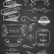 Chalkboard Hand drawn vintage vector elements — Stockvektor