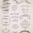 Hand drawn vintage elements — Stok Vektör