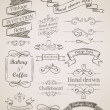 Stock Vector: Hand drawn vintage elements