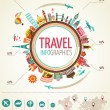 Royalty-Free Stock Vector Image: Travel and tourism infographics with data icons, elements