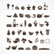 Food icons and elements — Imagen vectorial