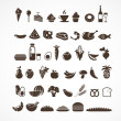 Food icons and elements - Stok Vektör