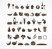 Food icons and elements — Stock Vector