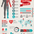 Medical and healthcare infographics — Imagens vectoriais em stock