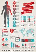Lékařské a zdravotnické infografika — Stock vektor