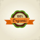 Organic food label, tag and graphi element — Stock Vector