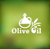 Olive oil vector backgound — Stock Vector