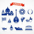 Greece - icon set - Stock Vector