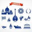 Greece - icon set — Stock Vector
