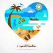 I love tropical paradise — Stock Vector