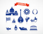 Greece - icon set — Stock Vector