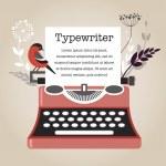Vintage Vector Typewriter — Stock Vector