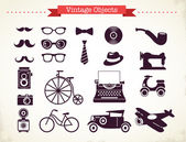 Vintage hipster objects collection — Stock Vector