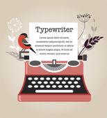 винтаж векторный пишущая машинка — Cтоковый вектор