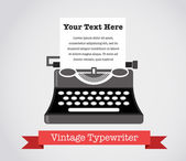 Vintage Vector Typewriter — Stock Vector