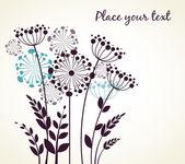 Dandelions flowers — Stock Vector