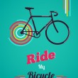 Bicycle vintage style poster — Stock Vector