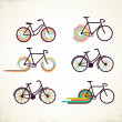 Bicycle set - Stock Vector