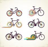 Fahrrad-set — Stockvektor