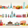 Vector de stock : Travel and tourism locations