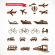 Transportation icons set - Stock Vector