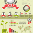 Golf vector infographics — Stockvectorbeeld