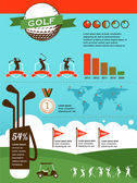 Golf vector infographics — Stock Vector