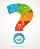 Question mark abstract design and infographics, background — Stockvector