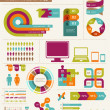Elements and icons of infographics — Stock Vector